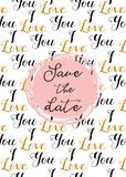 Σχέδιο καρδιών, συρμένες χέρι εικονίδια και απεικονίσεις για τους βαλεντίνους και το γάμο Εκτός από το πρότυπο πρόσκλησης ημερομη Στοκ Εικόνα