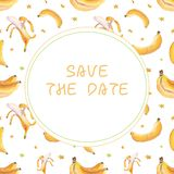 Σχέδιο καρτών μπανανών ελεύθερη απεικόνιση δικαιώματος