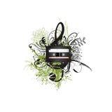σχέδιο κασετών floral Στοκ εικόνα με δικαίωμα ελεύθερης χρήσης
