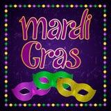 Σχέδιο κομμάτων καρναβαλιού gras της Mardi διανυσματική απεικόνιση
