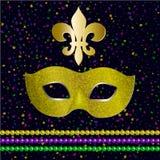 Σχέδιο κομμάτων καρναβαλιού gras της Mardi ελεύθερη απεικόνιση δικαιώματος