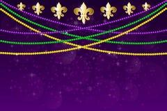 Σχέδιο κομμάτων καρναβαλιού gras της Mardi απεικόνιση αποθεμάτων