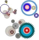 σχέδιο κύκλων διανυσματική απεικόνιση