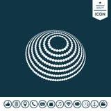 Σχέδιο λογότυπων - γήινο σύμβολο Στοκ Φωτογραφίες