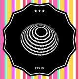 Σχέδιο λογότυπων - γήινο σύμβολο Στοκ εικόνες με δικαίωμα ελεύθερης χρήσης