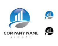 Σχέδιο λογότυπων ιδιοκτησίας και κατασκευής Στοκ Φωτογραφίες