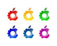 Σχέδιο λογότυπων και εικονιδίων επισκευής της Apple διανυσματική απεικόνιση