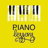 Σχέδιο λογότυπων μαθημάτων πιάνων Στοκ Φωτογραφίες