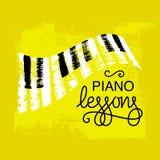 Σχέδιο λογότυπων μαθημάτων πιάνων Στοκ φωτογραφία με δικαίωμα ελεύθερης χρήσης