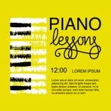 Σχέδιο λογότυπων μαθημάτων πιάνων Στοκ εικόνες με δικαίωμα ελεύθερης χρήσης