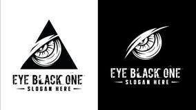 Σχέδιο λογότυπων ματιών επίσης corel σύρετε το διάνυσμα απεικόνισης Στοκ Εικόνα