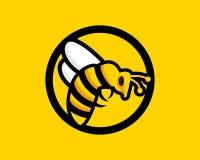 Σχέδιο λογότυπων μελισσών μέσα και εικόνα υψηλής ανάλυσης ελεύθερη απεικόνιση δικαιώματος