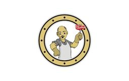Σχέδιο λογότυπων grandpa αρχιμαγείρων ελεύθερη απεικόνιση δικαιώματος