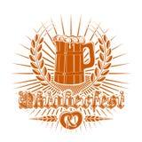 Σχέδιο λογότυπων Oktoberfest Στοκ Φωτογραφία