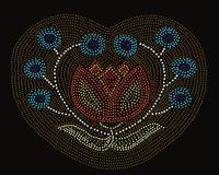 Σχέδιο λουλουδιών αμερικανών ιθαγενών ελεύθερη απεικόνιση δικαιώματος