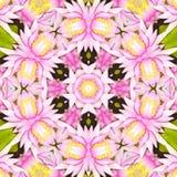 Σχέδιο λουλουδιών κρίνων καλειδοσκόπιων Δονούμενο γεωμετρικό υπόβαθρο mandala Φυλετικό εκλεκτής ποιότητας υπόβαθρο με ένα μενταγι Στοκ Εικόνα