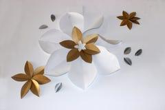 σχέδιο λουλουδιών τοίχων Στοκ φωτογραφίες με δικαίωμα ελεύθερης χρήσης