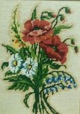 Σχέδιο λουλουδιών χειροτεχνιών Στοκ Εικόνες