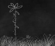 Σχέδιο μαργαριτών κειμένων απλότητας Στοκ Φωτογραφίες