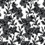 Σχέδιο με τα γαρίφαλα λουλουδιών διανυσματική απεικόνιση