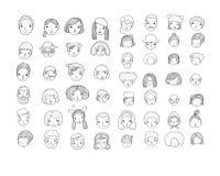 Σχέδιο με τα γραφικά πρόσωπα επίσης corel σύρετε το διάνυσμα απεικόνισης όπως το είδωλο είναι το κουμπί μπορεί άνθρωποι εικονιδίω στοκ φωτογραφίες με δικαίωμα ελεύθερης χρήσης