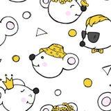 Σχέδιο με τα χαριτωμένα αστεία ποντίκια Διανυσματική απεικόνιση στο ύφος σκίτσων στοκ φωτογραφία με δικαίωμα ελεύθερης χρήσης