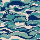 Σχέδιο με την εικόνα της σύστασης κρέμας των μπλε, ρόδινων και γκρίζων σκιών αφηρημένη ανασκόπηση Στοκ Εικόνες