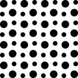 Σχέδιο με τους μαύρους κύκλους στο άσπρο υπόβαθρο ελεύθερη απεικόνιση δικαιώματος