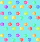 Σχέδιο με το lollipop στο μπλε υπόβαθρο, ελεύθερη απεικόνιση δικαιώματος