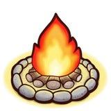 Σχέδιο μιας φωτιάς που απομονώνεται Στοκ Εικόνες