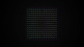 Σχέδιο μορίων σημείων κιβωτίων κύβων, 4K διανυσματική απεικόνιση