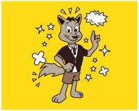 Σχέδιο μπλουζών κινούμενων σχεδίων αλεπούδων Hipster Ελεύθερη απεικόνιση δικαιώματος