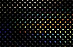 Σχέδιο μωσαϊκών Glitz Κίτρινα μπλε πορτοκαλιά ολογραφικά rhombs στο μαύρο υπόβαθρο ελεύθερη απεικόνιση δικαιώματος
