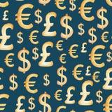 Σχέδιο νομίσματος Watercolor: δολάριο, ευρώ, λίβρα πραγματική αντανάκλαση χρημάτων σπιτιών κτημάτων έννοιας Απεικόνιση για το σχέ απεικόνιση αποθεμάτων