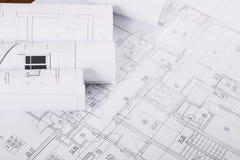 σχέδιο οικοδόμησης Αρχιτεκτονικό υπόβαθρο προγράμματος Στοκ Εικόνες