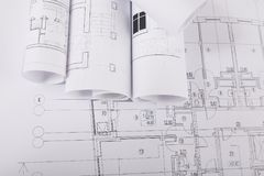 σχέδιο οικοδόμησης Αρχιτεκτονικό υπόβαθρο προγράμματος Στοκ Εικόνα