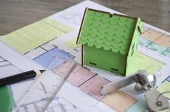 Σχέδιο Σχέδιο οικοδόμησης Στοκ Εικόνα