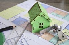Σχέδιο Σχέδιο οικοδόμησης Στοκ Εικόνες