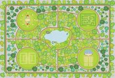 σχέδιο πάρκων Στοκ Εικόνες