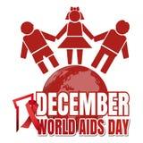 Σχέδιο Παγκόσμιας Ημέρας κατά του AIDS Στοκ Εικόνες
