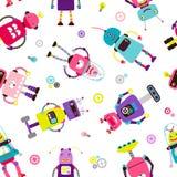 Σχέδιο παιδιών ρομπότ ή αλλοδαπών απεικόνιση αποθεμάτων