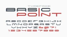 Σχέδιο πηγών φουτουριστικής και επίδειξης techno, αλφάβητο Στοκ Εικόνα