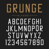 Σχέδιο πηγών Grunge Κατασκευασμένο αλφάβητο με τις ρωγμές και τις γρατσουνιές Εκλεκτής ποιότητας χαρακτήρας τυπογραφίας ελεύθερη απεικόνιση δικαιώματος