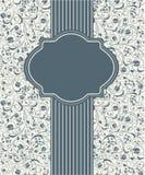 Σχέδιο πλαισίων προτύπων για την κάρτα Στοκ Εικόνα