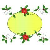 Σχέδιο πλαισίων Χριστουγέννων Στοκ εικόνα με δικαίωμα ελεύθερης χρήσης