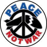 Σχέδιο πολεμικών κειμένων ειρήνης όχι με ένα σύμβολο ειρήνης που καταστρέφει ένα βλήμα στοκ φωτογραφία με δικαίωμα ελεύθερης χρήσης