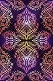 Σχέδιο πολυτέλειας με τις γεωμετρικές διακοσμήσεις boho Φυλετικό μαγικ διανυσματική απεικόνιση