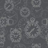 Σχέδιο που αποτελείται άνευ ραφής από τις ώρες εικόνων Στοκ Εικόνα