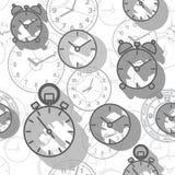 Σχέδιο που αποτελείται άνευ ραφής από τις ώρες εικόνων Στοκ Εικόνες