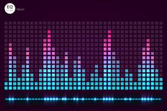 Σχέδιο προτύπων του DJ λογότυπων εξισωτής στοκ εικόνες με δικαίωμα ελεύθερης χρήσης